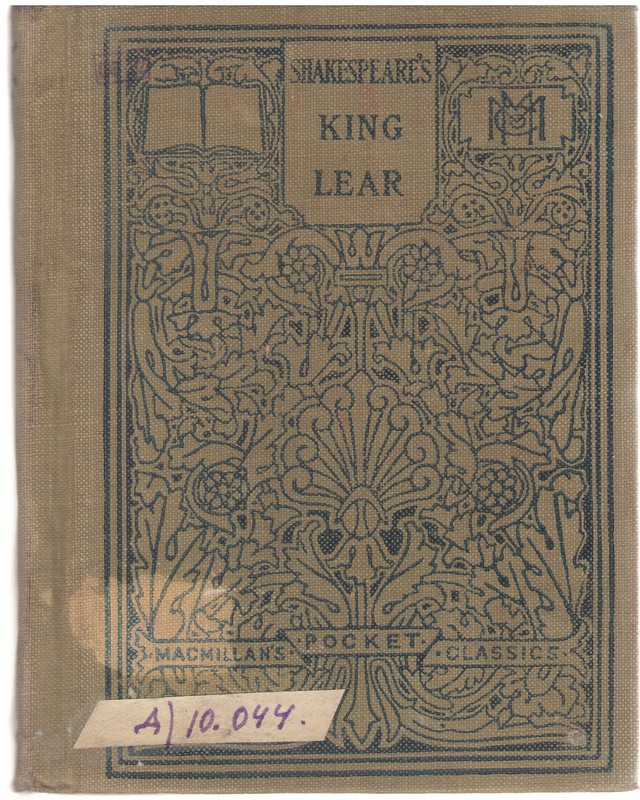 Shakespeare's Tragedy of King Lear. Ed. with notes a. an  introd. by  Phylo Melvyn Buck – N. Y., 1914.