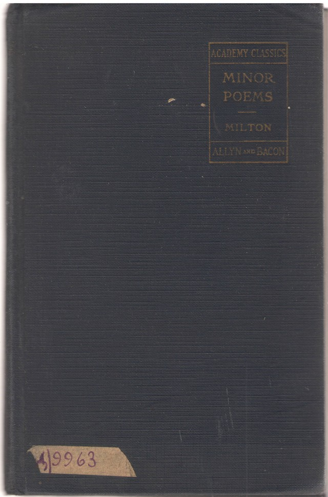 Milton. Minor Poems. With intr. a. notes by Samuel Thurber – Boston a.o., s.a.
